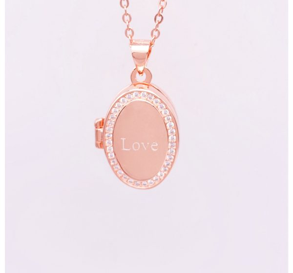 Sterling Silver Oval Shape Locket for Engraving
