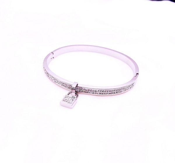 Hanging Sparkle Padlock Bracelet