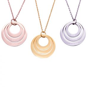 Stainless Steel Three Disc Necklace