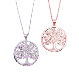 Sterling Silver Crystal Tree of Life Pendant & Necklace