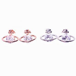 Sterling Silver Planet Stud Earrings