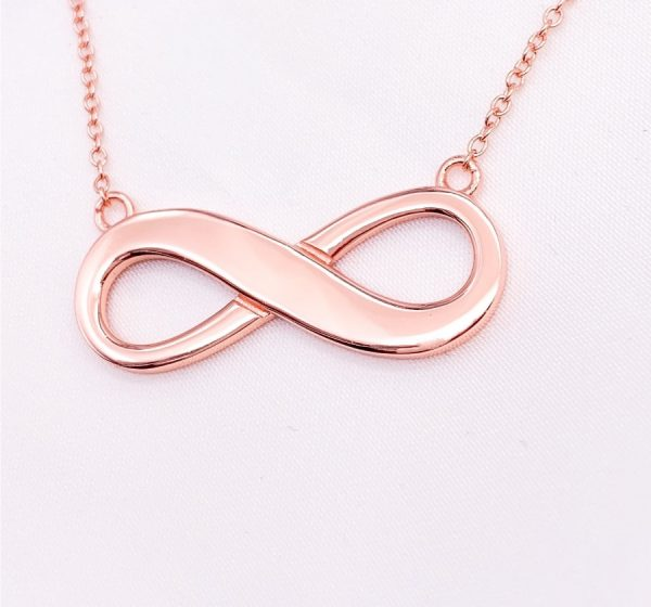 Sterling Silver Infinity Necklace with Engraving