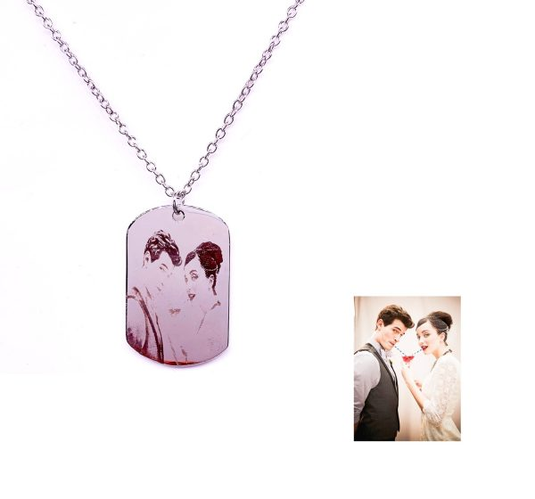 Sterling Silver Dog Tag Photo Engraving