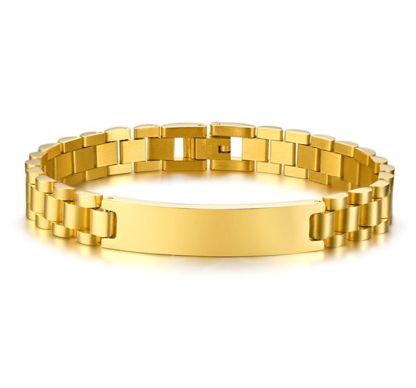 Mens ID Bracelet with Free Engraving