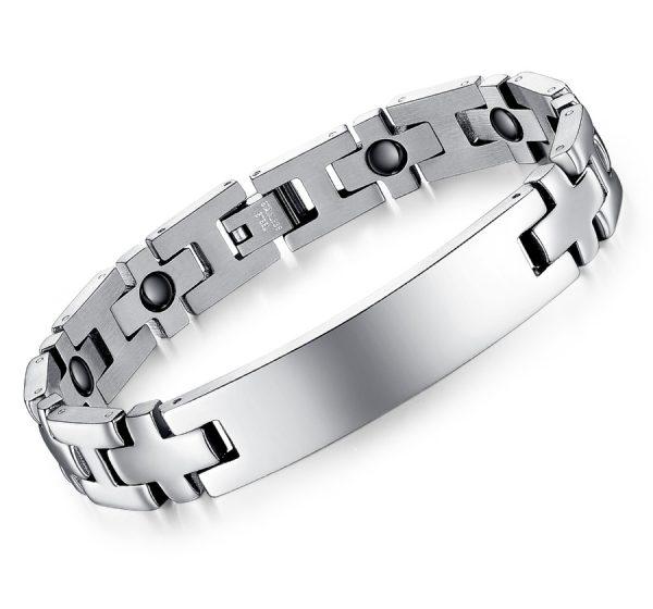 Mens Engraving ID Bracelet