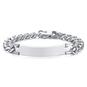 Stainless Steel Mens ID Bracelet