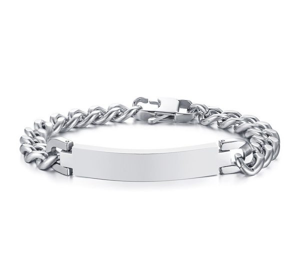 Stainless Steel Mens ID Bracelet