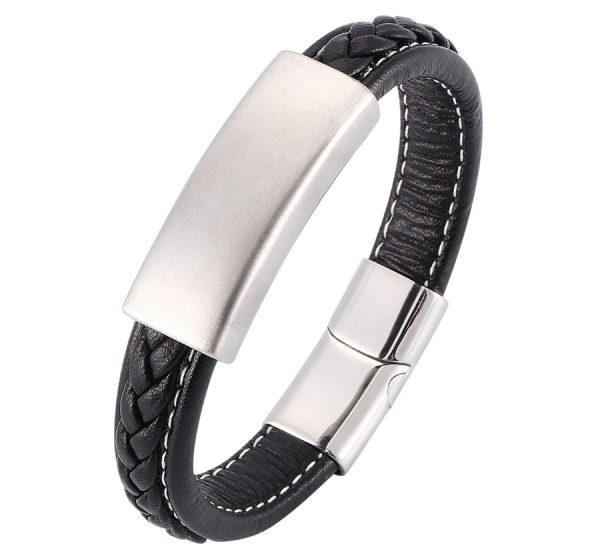 Men's Genuine Leather Bracelet Classic Style