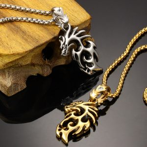 Stainless Dragon Necklace