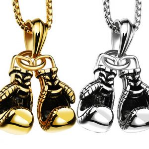 : Stainless Steel Boxing Gloves Necklace
